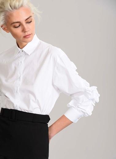Kolları Fırfırlı Gömlek-People By Fabrika